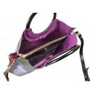 Gironacci сумка 261 кожа цветы черный/виола