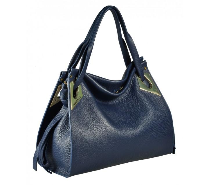 Gironacci сумка 1570 кожа синий