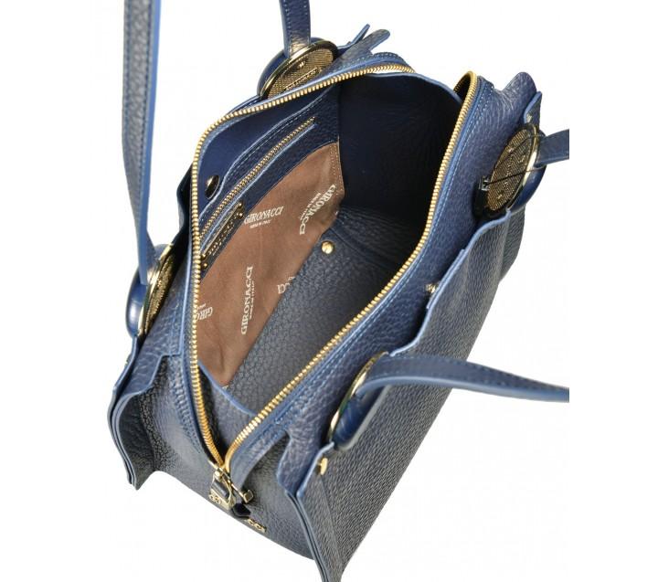 Gironacci сумка 1480 кожа синий/синий