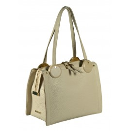 Gironacci сумка 1480 кожа беж/беж