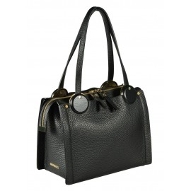 Gironacci сумка 1480 кожа черный/черный