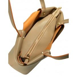 Gironacci сумка 1380 кожа таупе/койо