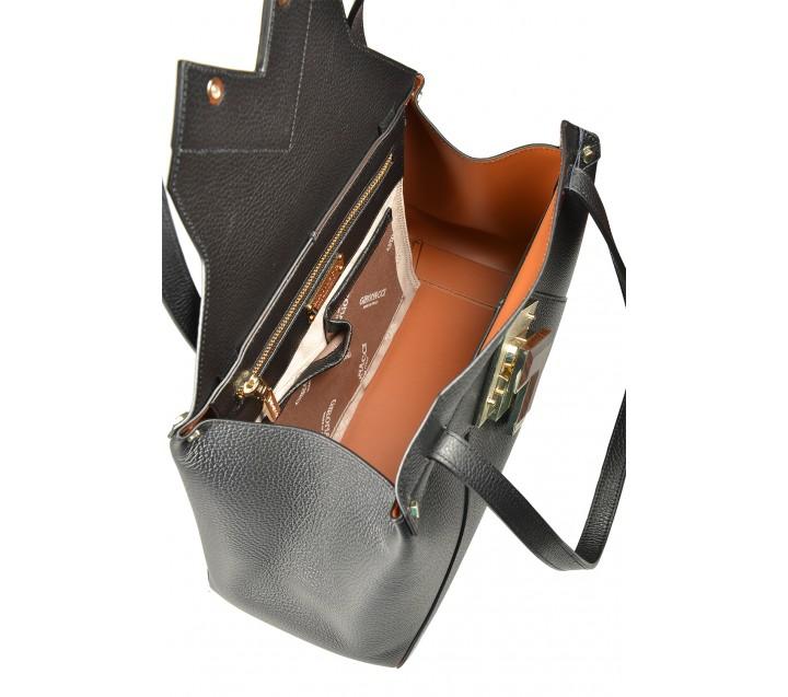 Gironacci сумка 1192 кожа черный/койо