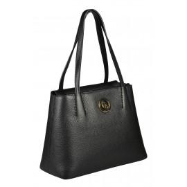 Gironacci сумка 1290 кожа черный/бордо