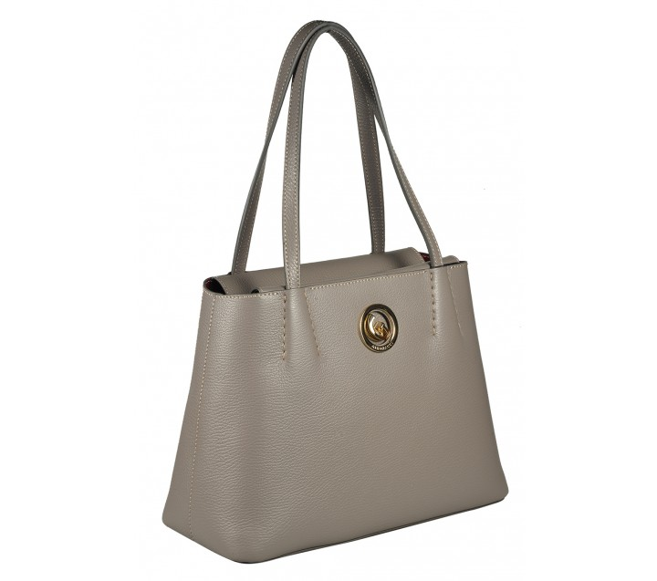 Gironacci сумка 1290 кожа фумо/бордо