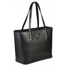 Gironacci сумка 1291 кожа черный/бордо