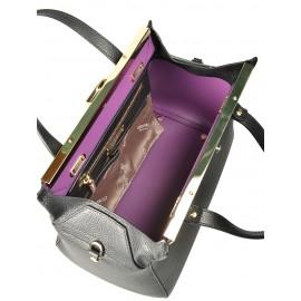 Gironacci сумка 1392 кожа черный/виола