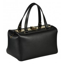 Gironacci сумка 1391 кожа черный/виола