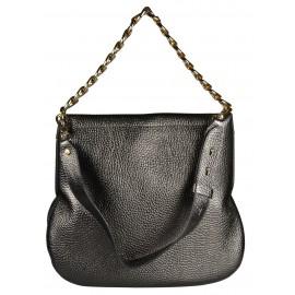 Gironacci сумка 1672 кожа металлик антрацит/серый