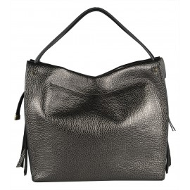 Gironacci сумка 1681 кожа металлик антрацит/серый
