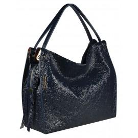 Gironacci сумка 1681 наплак синий/маттоне