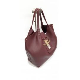 Gironacci сумка 1782 кожа бордо/бордо