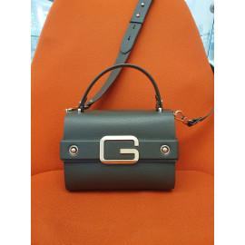 Gironacci сумка 2242 кожа олива/виола