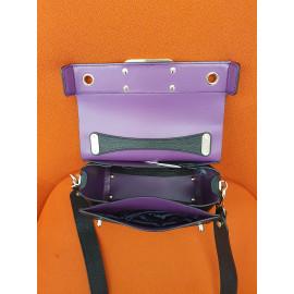 Gironacci сумка 2242 кожа черный/сиреневый