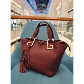 Gironacci сумка 2532 кожа бордо/бордо
