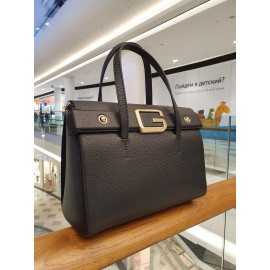 Gironacci сумка 2243 кожа черный/сиреневый
