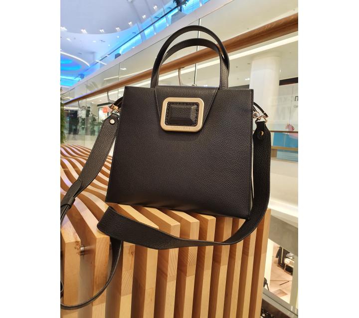 Gironacci сумка 2542 кожа черный