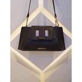 Gironacci сумка 2342 кожа черный/калф койо