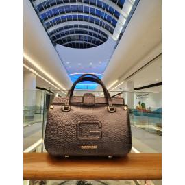 Gironacci сумка 2440 кожа металлик/черный