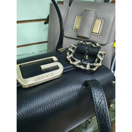 Gironacci сумка 2240 кожа черный/бордо