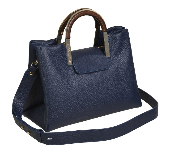 Gironacci сумка 2211 кожа синий/синий