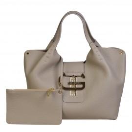 Gironacci сумка 1782 кожа таупе/таупе