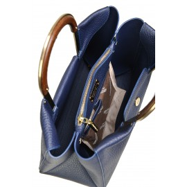 Gironacci сумка 2210 кожа синий/синий