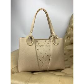 Gironacci сумка 2111 кожа бежевый/беж