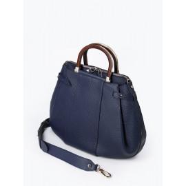 Gironacci сумка 2141 кожа синий/синий