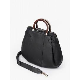 Gironacci сумка 2141 кожа черный/черный