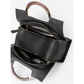 Gironacci сумка 2321 кожа черный/черный