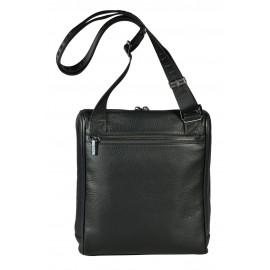 Giudi UOMO сумка м10428 кожа черный/серый