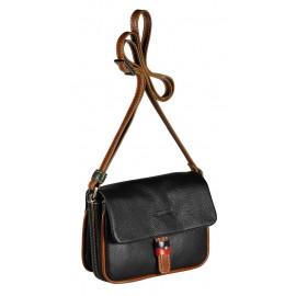 Giudi сумка 10086 TRG/COL-BN черный/мультиколор
