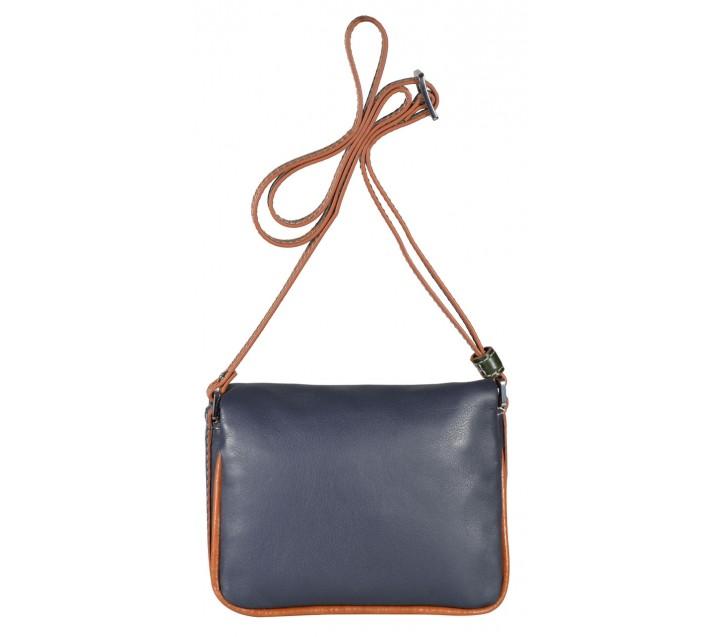 Giudi сумка 10086 TRG/COL-BN кожа синий/тан