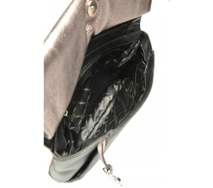 Giudi сумка 10976 кожа чинзано антрацит/черный