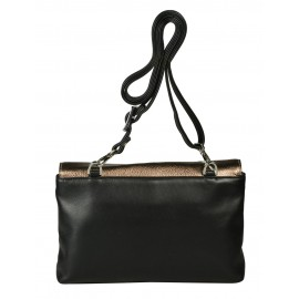 Giudi сумка 10977 кожа чинзано бронза/черный