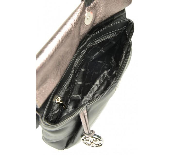 Giudi сумка 10977 кожа чинзано антрацит/черный