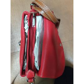 Giudi сумка 10087 кожа красный/мультиколор