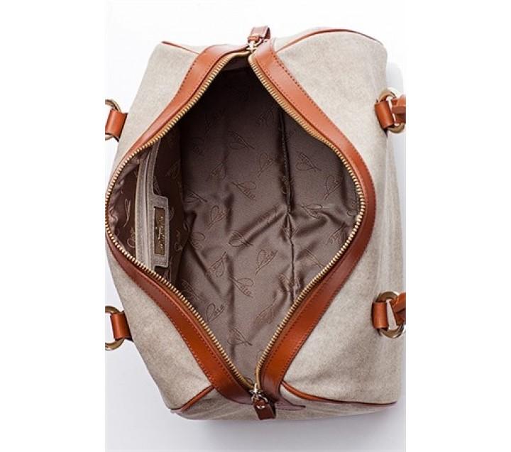Lara сумка 7877 кожа/замша бежевый/койо