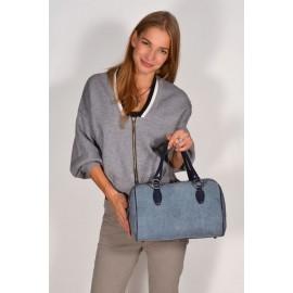 Lara сумка 7877 кожа/замша синий/голубой