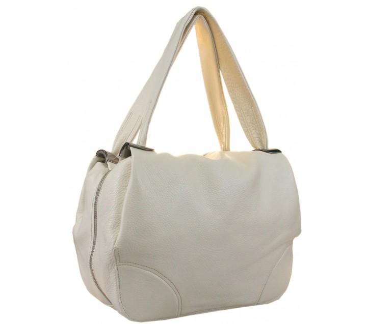 Lara сумка 9103 кожа латте(молоко)