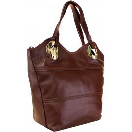 Lara сумка 6845 кожа светло коричневый