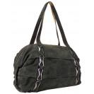Lara сумка 7046 набук темно серый
