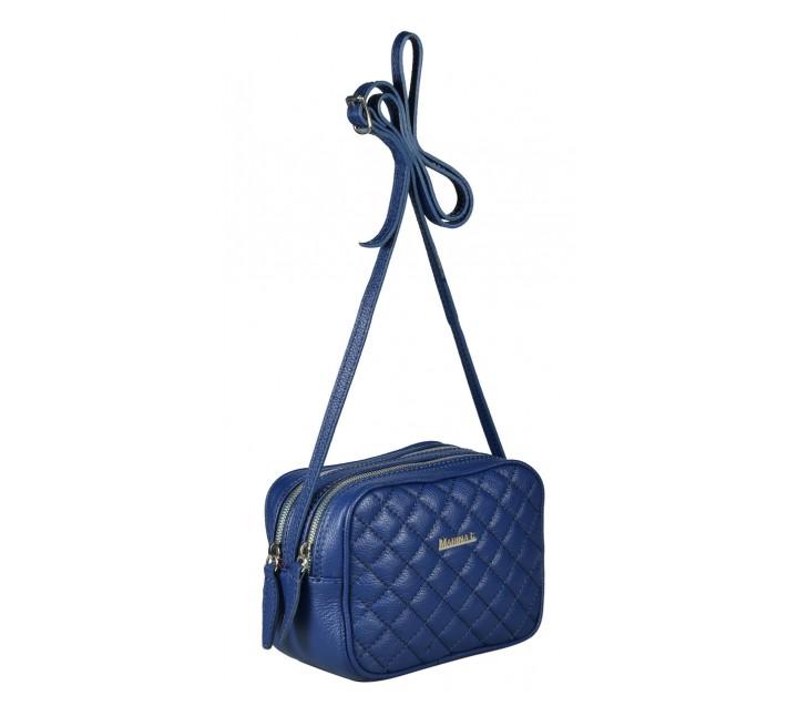 Marina C. сумка 0175 ромбо кожа синий/никель