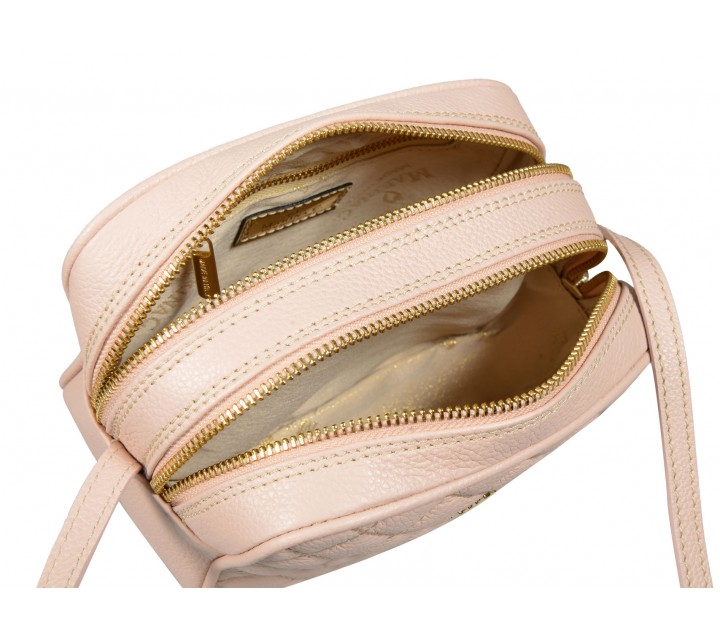 Marina C. сумка 0175 ромбо кожа платино/золото