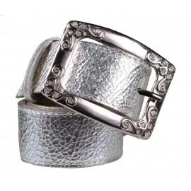 Marina C. ремень р2382-40 пиомбо/серебро