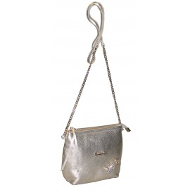 Marina C. сумка 2466/4519 кожа платина/золото/ящерица