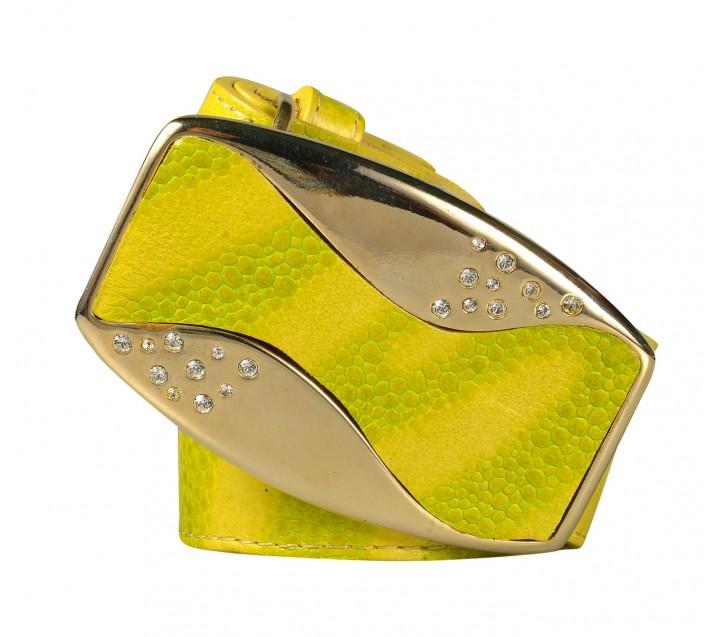 Marina C. ремень р1768-40 золото/желтый/лимонный