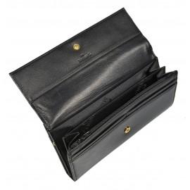 Marina кошелек п334/697GM наплак черный/золото