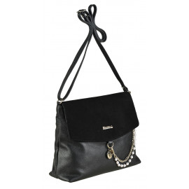 Marina C. сумка 4284 кожа/замша черный